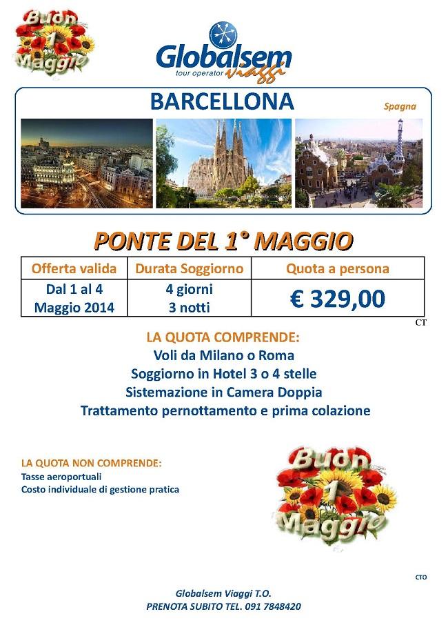 1 Maggio 2014 Barcellona Offerta