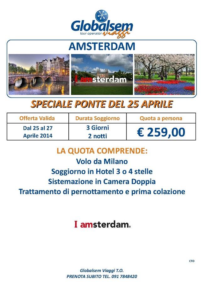 25 Aprile Amsterdam Offerta