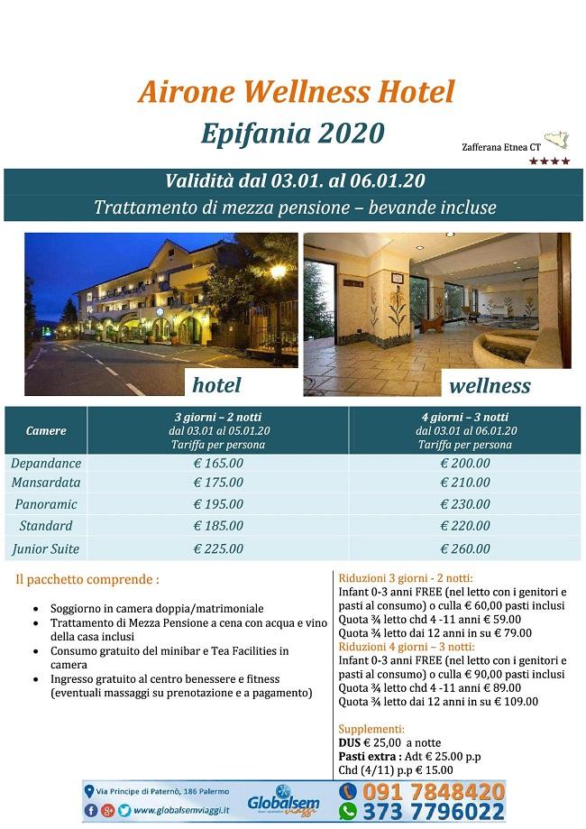 Epifania 2020 Hotel Airone Zafferana Etnea (CATANIA) - Sicilia