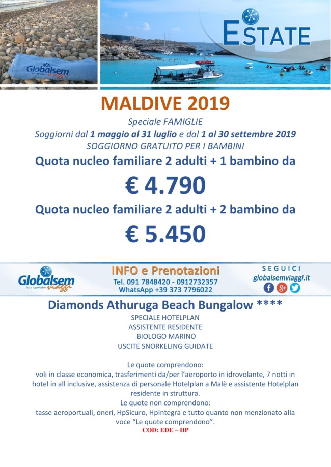 ESTATE 2019 Speciale MALDIVE