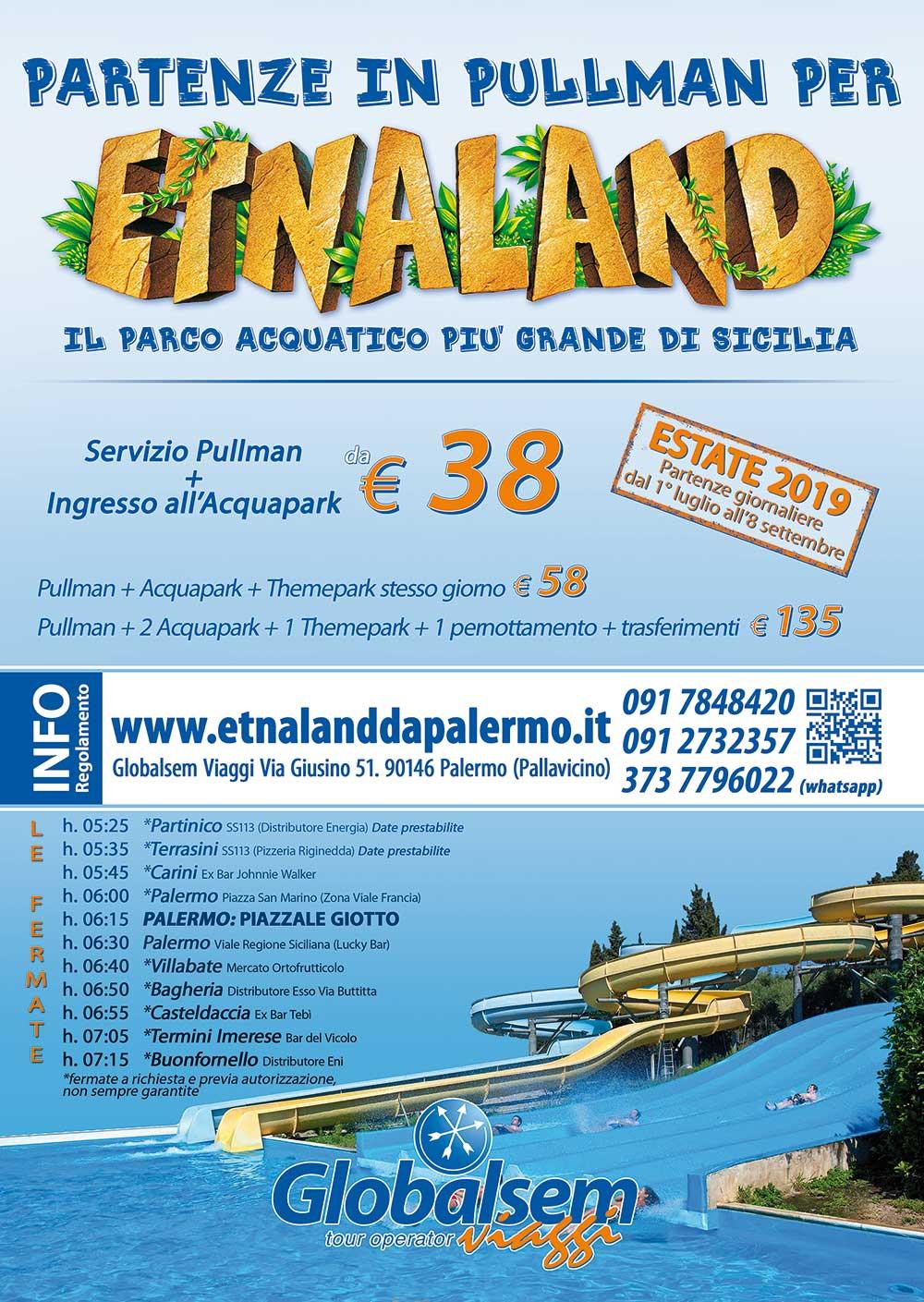 Calendario Etnaland.Etnaland Da Palermo In Pullman Estate 2019 Da 38