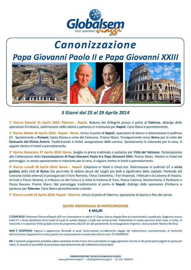 Canonizzazione Papa Giovanni Paolo II e Papa Giovanni XXIII