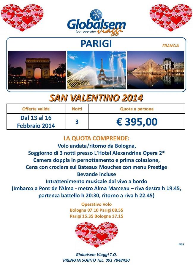 San Valentino 2014 Parigi Offerta