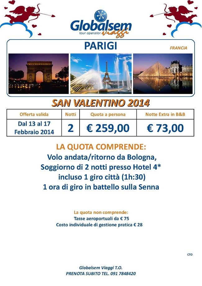 San Valentino 2014 Parigi Offerta Speciale